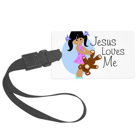 lovesmeabc.png Large Luggage Tag
