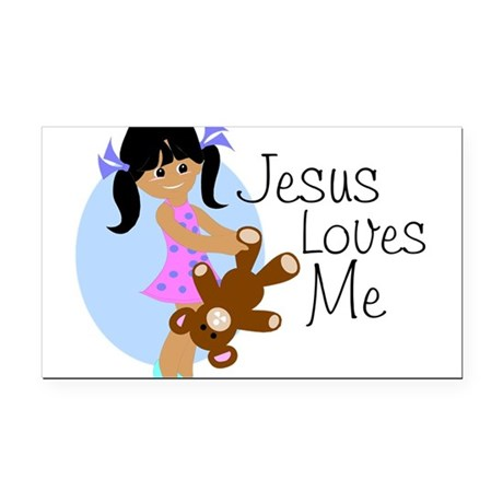 lovesmeabc.png Rectangle Car Magnet