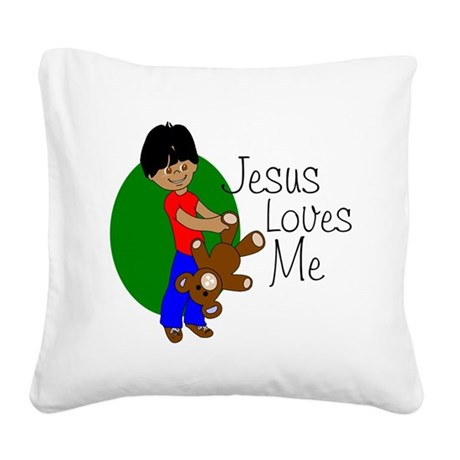 jlmabc.png Square Canvas Pillow