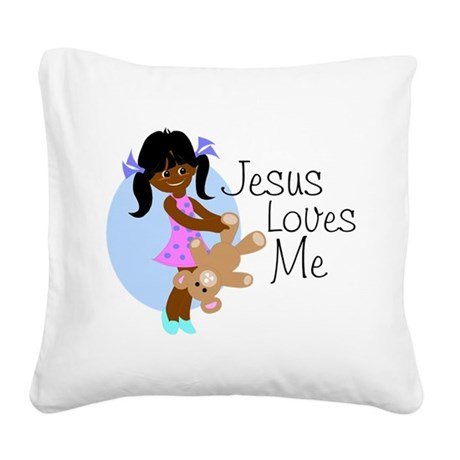 lovesmeabcd.png Square Canvas Pillow
