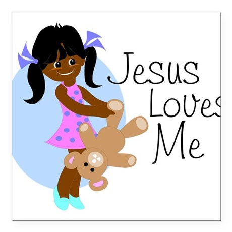 "lovesmeabcd.png Square Car Magnet 3"" x 3"""