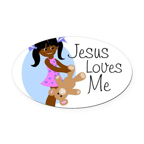 lovesmeabcd.png Oval Car Magnet