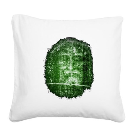 Shroud of Turin Square Canvas Pillow
