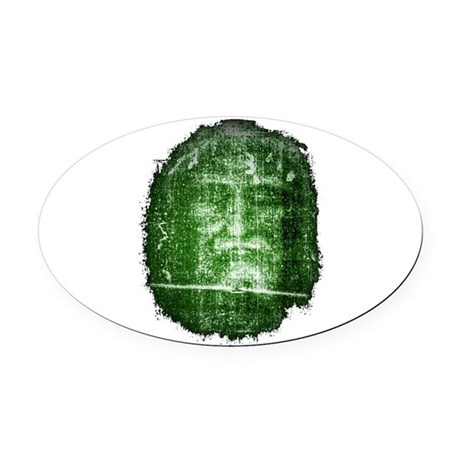 Shroud of Turin Oval Car Magnet