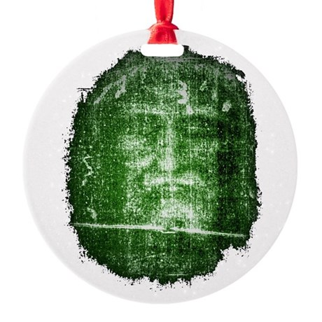 Shroud of Turin Round Ornament