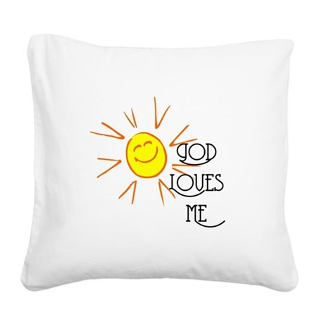 lovesme2.png Square Canvas Pillow