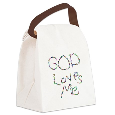 godloves.png Canvas Lunch Bag