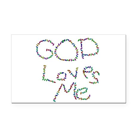 godloves.png Rectangle Car Magnet