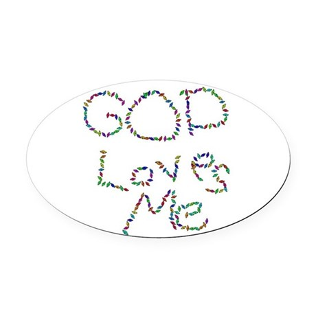 godloves.png Oval Car Magnet