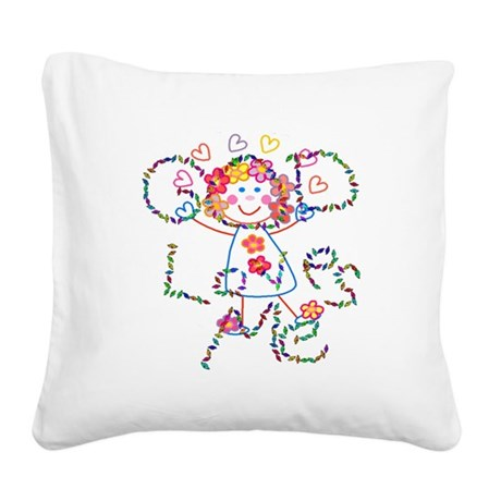 godloves2.png Square Canvas Pillow