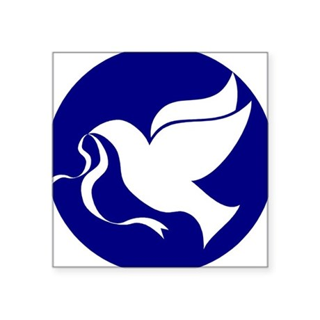 "dovepeace.png Square Sticker 3"" x 3"""