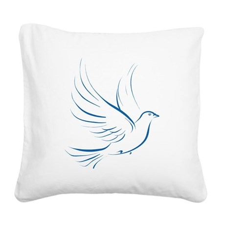 dove2.png Square Canvas Pillow