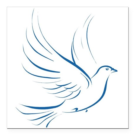 "dove2.png Square Car Magnet 3"" x 3"""