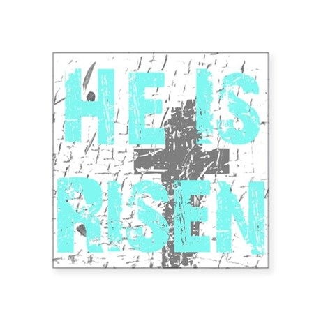 "risen1a.png Square Sticker 3"" x 3"""