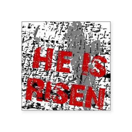 "risen1c2.png Square Sticker 3"" x 3"""