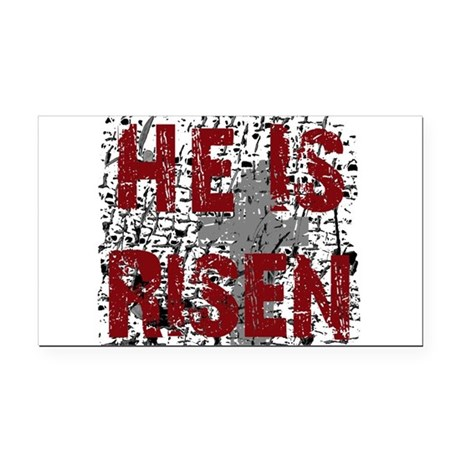 risen1.png Rectangle Car Magnet