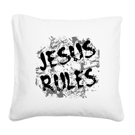 grunge3.png Square Canvas Pillow