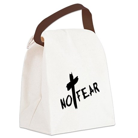 nofear3.png Canvas Lunch Bag