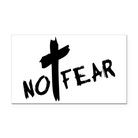 nofear3.png Rectangle Car Magnet