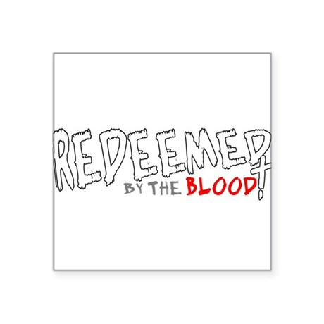 "reedeemed2c2.png Square Sticker 3"" x 3"""