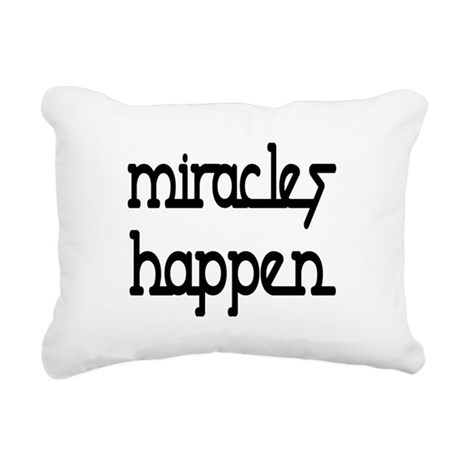 Miracles Happen Rectangular Canvas Pillow