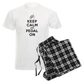 Keep Calm and Pedal On pajamas