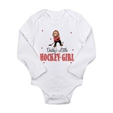 Daddy's Little Hockey Girl Baby Body Suit