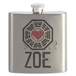 I Heart Zoe - LOST Flask