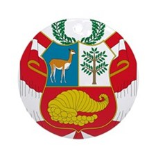 peru coat of arms Ornament (Round)