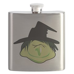 Happy Green Witch Flask