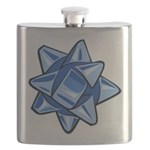 Dark Blue Bow Flask