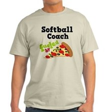 Softball Coach Pizza T-Shirt
