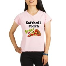 Softball Coach Pizza Performance Dry T-Shirt