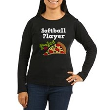 Softball Player Funny Pizza T-Shirt