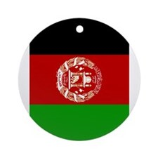 Afghanistan flag 2 Ornament (Round)