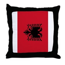 Albania flag 2 Throw Pillow