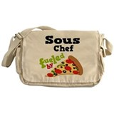 Sous Chef Funny Pizza Messenger Bag