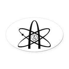 Atheism Symbol Oval Car Magnet