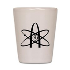Atheism Symbol Shot Glass