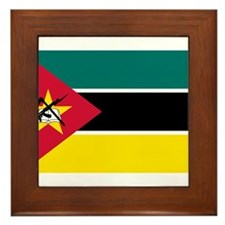 mozambique flag Framed Tile