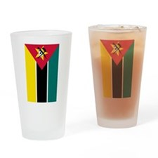 mozambique flag 2 Drinking Glass
