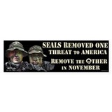 Seals Removed One Threat Bumper Sticker
