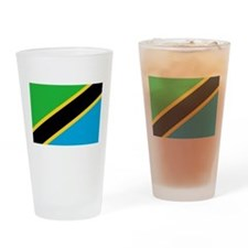 tanzania flag Drinking Glass