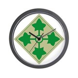 Cute 4th infantry division Wall Clock