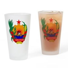 mozambique coat of arms Drinking Glass