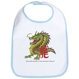 Green Chinese Dragon#1 Bib