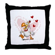 Dodo girl Throw Pillow