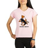 flying comic rocket penguin Performance Dry T-Shir
