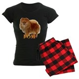 Pomeranian head dog art pajamas