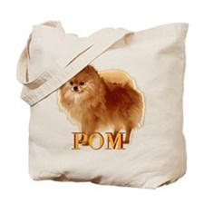 Pomeranian head dog art Tote Bag